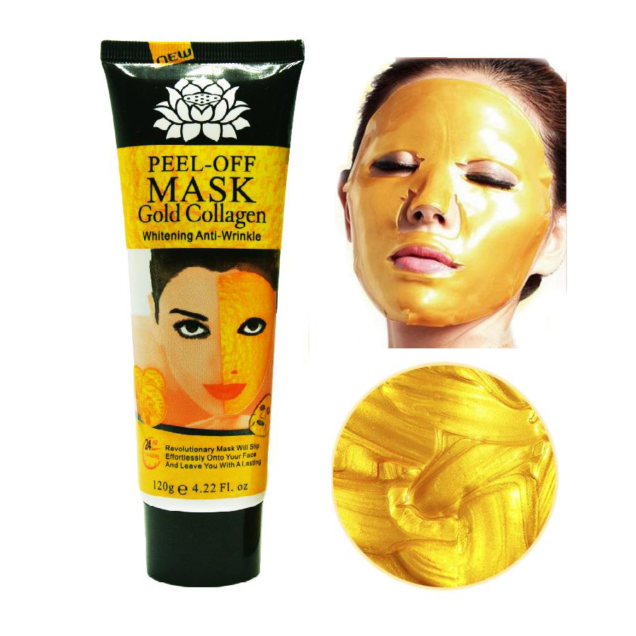120ml 24K golden mask Anti wrinkle anti aging facial mask face care whitening face masks skin care face lifting firming(China (Mainland))