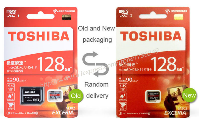 TOSHIBA Memory Card 16G U1 32G 64G 128G SDHC/SDXC U3 Micro SD Class 10 Flash Microsd Card for Smartphones Mp3 Tablet and Camera