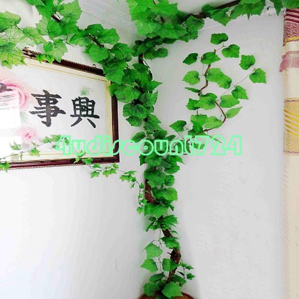 5pcs Faux Artificial Ivy Garland Grape Leaf Vine Silk Leaves For Xmas Party Decor ES1801 wedding decoration flores(China (Mainland))