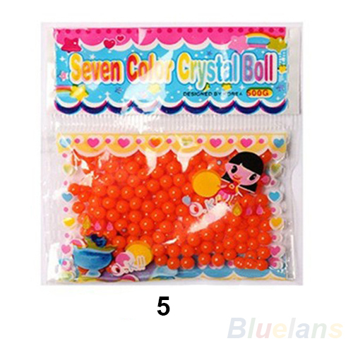 10 bags lot Pearl shaped Crystal Soil Water Beads Mud Grow Magic Jelly balls wedding Home