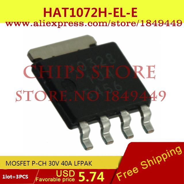 Бесплатная Доставка Diy Kit Электронные Производство HAT1072H-EL-E MOSFET P-CH 30 В 40A LFPAK 1072 HAT1072 3 ШТ.  цены