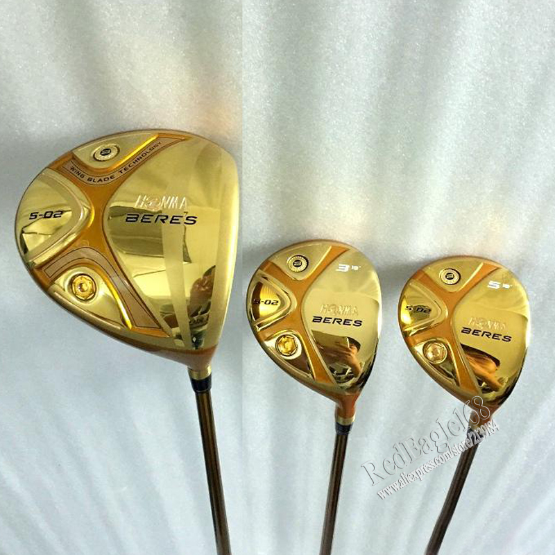 New mens Golf clubs HONMA S-02 5 star Golf wood set driver 9/10 Loft+3/5 fairway wood with Graphite Golf shaft free shipping(China (Mainland))