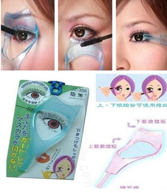 Lady 3in1 Mascara Applicator Guide Tool Eyelash Comb Makeup(China (Mainland))