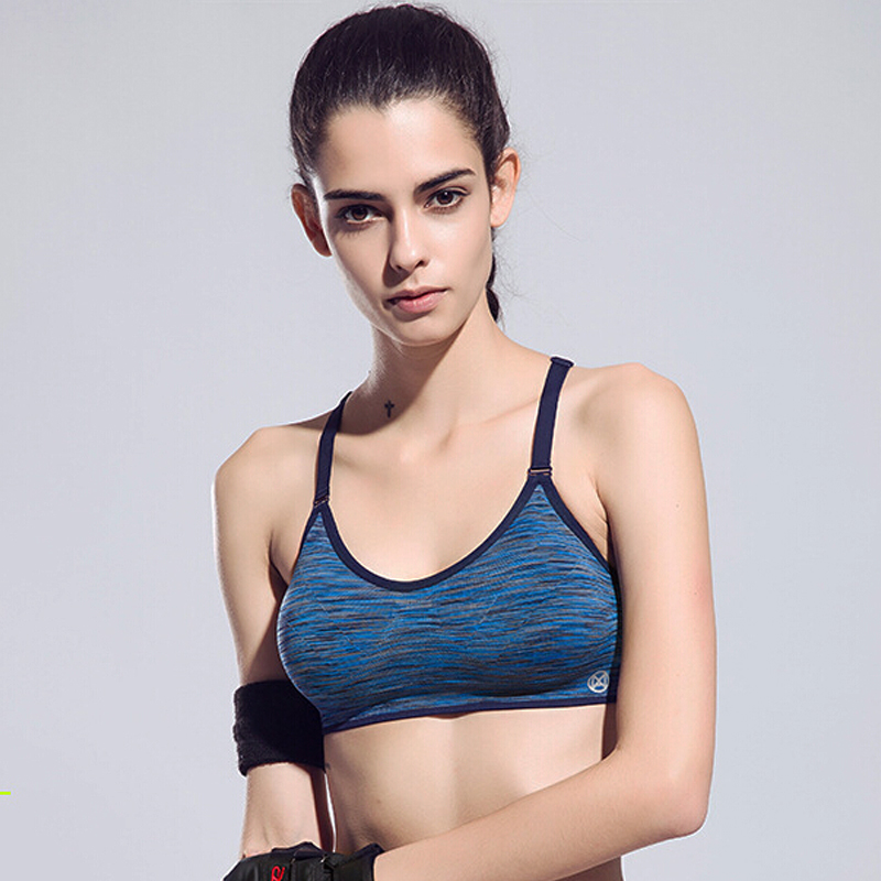 Hot Sales Women Absorb Sweat Quick Drying Professional Sports BraTop Vest Running Wireless sports Underwear for