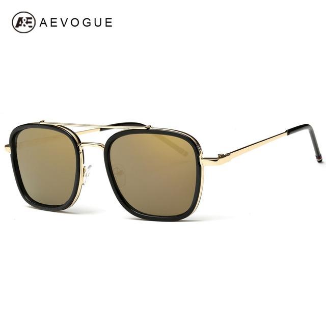 Aevogue очки мужчины новые марка дизайнер небольшая площадь зеркала объектив металлический каркас солнцезащитные очки óculos UV400 AE0339