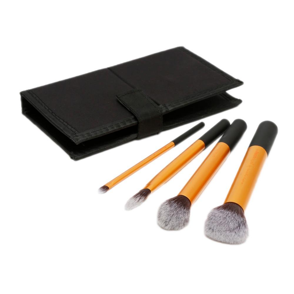 2016 Golden Waistline Sculpting Brush Set Professional Makeup Brushes Beauty Cosmetic Tool Maquiagem Accessories 4 Pcs 202