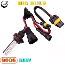 Buy 9006 55W 12V Car Styling HID Xenon Bulb Headlight Lamp Replacement Auto Motorcycle Light Source 3000K 4300K 6000K 8000K 12000K for $7.66 in AliExpress store
