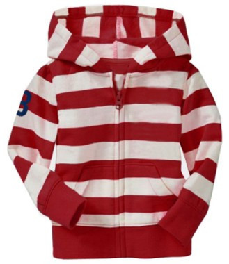 2014 New Girls Winter long-sleeved POLO Stripe Hoodies Girl Sweatshirts Children red white stripes Coat - baby supermarket store