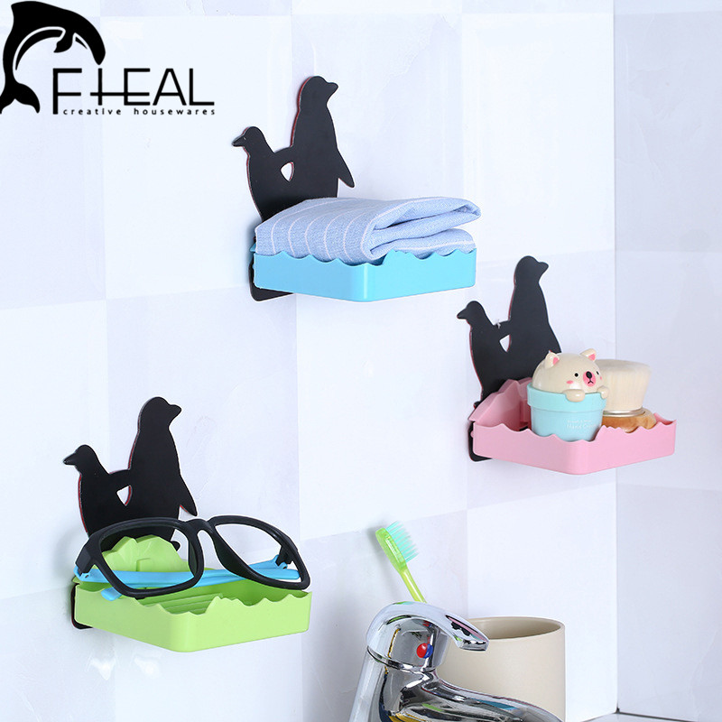 Creative Foldable Bathroom Holders Storage Racks Soap Holder Glasses Collector Cute Bathroom Cosmetics Debris Storage Rack(China (Mainland))
