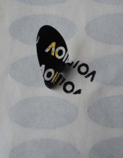 1000pcs Free shipping custom tamper evident tape plastic bag security seal warranty open void sticker anti-fake label 24*11mm(China (Mainland))