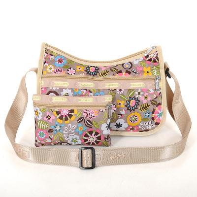2pcs/lot spring style women messenger bag+wallet purse Vintage Floral Printed Nylon Shoulder Bag(China (Mainland))