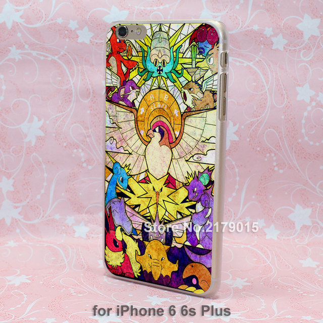 Etui iPhone 4/4S/5/5S/5C/6/6S/6Plus/6SPlus Pokemon Transparent