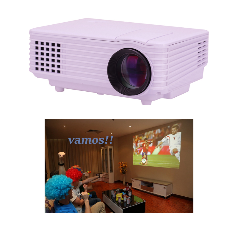 Portable LED Projector Home Theater HD Projector With USB HDMI 200 ANSI Long Lifetime Projector Factory Wholesale(China (Mainland))