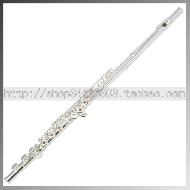 16 e key trepanned silveriness dual flute exquisite flute musical instrument flute packs