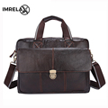 IMRELAX Genuine Leather Men Bags Hot Sale Man Messenger Bag Cowhide Leather Men s Briefcase Male