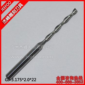 3.175*2.0*22 mm Double Flute Spiral Tungsten Steel Carbide Mill/ 2 Flute Carbide End Mills/ Solid Carbide End Mill