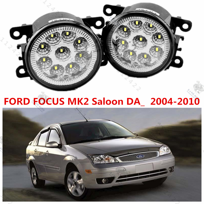 For FORD FOCUS mk2 II saloon 2005-2008 car styling led LAMPS Refit fog lights 12V 2 PCS White Blue Yellow(China (Mainland))