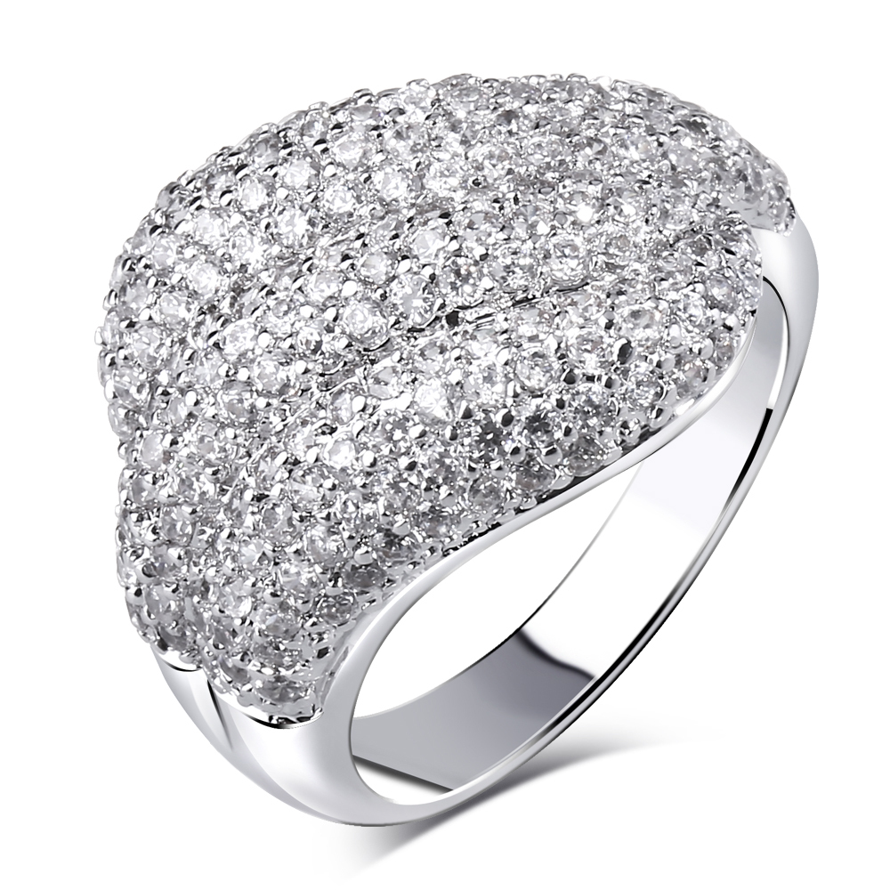 Nice Look AAA Cubic Zirconia Fashion Rings Lead Free Yellow Gold Plated Finger ring Free Allergy(China (Mainland))