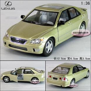 New Lexus IS 300 1:36 Alloy Diecast Model Car Champagne Toy Collecion B224b(China (Mainland))