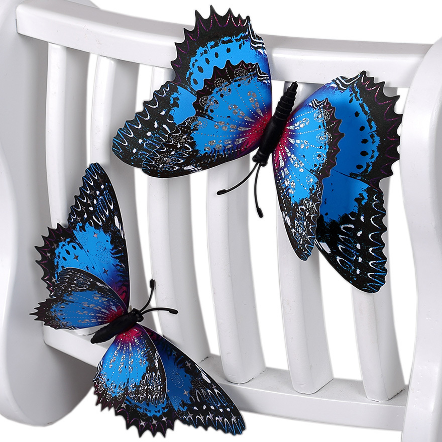 3d simulation butterfly decorative DIY double big wall stickers home decoration