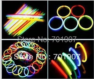 100pcs Multi Color Glow Stick Party Light Bracelets Glowsticks light stick High Quality Free Shipping with tracking code