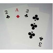 Último 3 Card Monte tarjetas de bicicletas de calidad superior trucos de magia