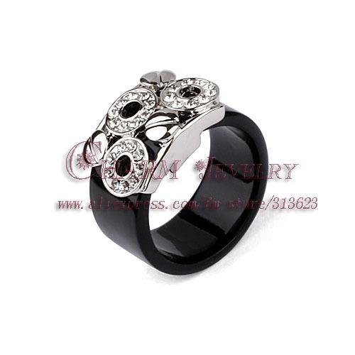 brand design platinum plated nickel free austrian rhinestone studdeed circle finger rings