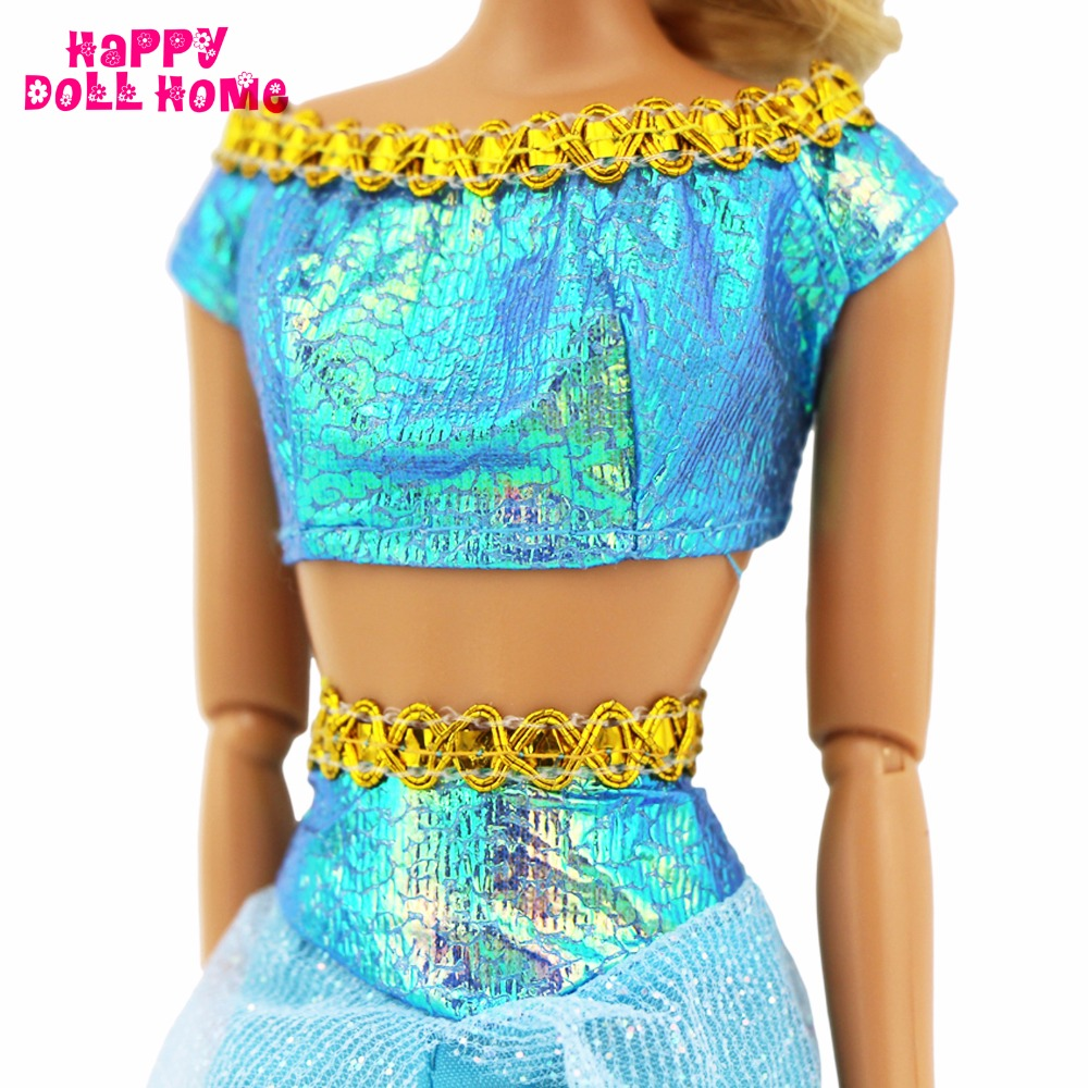 Handmade Outfit Fairy Story Princess Jasmine Restricted Version Costume Copy Aladdin Unique Garments For Barbie Kurhn Doll Toys Present