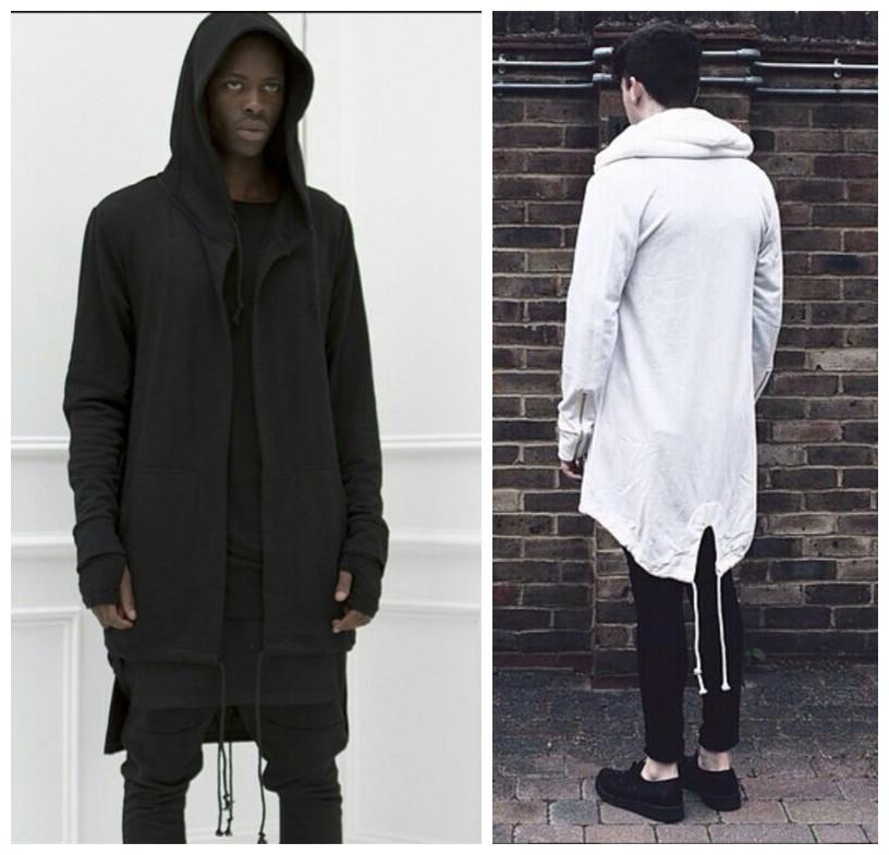 Mens Long Jacket With Hood Photo Album - Reikian