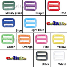 """100pcs Pack 1""""(25mm) Plastic Colorful Triglides Adjustable Buckle for Backpack Straps #FLC079(Mix-s)(China (Mainland))"""