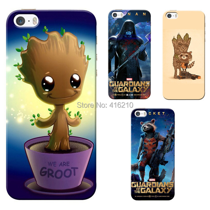 Guardians of the Galaxy Rocket Raccoon Groot case for iphone 5 5G 5S protective Hard case for iphone cell phone cases(China (Mainland))