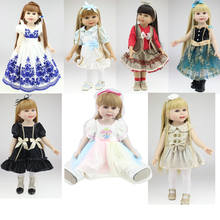 """2015 NEW 25 Models 18"""" Blonde/Brown Hair 45cm Girl Doll Realistic Baby Toys Birthday Gift  for Girls  As American Girl Dolls(China (Mainland))"""