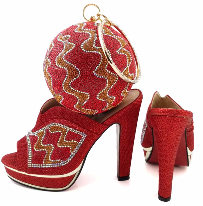 Italian Matching Shoe and Bag Set Women Shoes and Bag To Match for Parties Matching Shoes and Bags for BCH09 Fuchsia Size 38-42