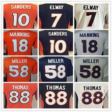 SexeMara Youth Kids stitched jerseys,58 Von 7 John 18 Peyton 10 Emmanuel jersey, Size S-XL(China (Mainland))