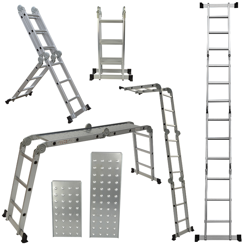 6ft Multi Purpose Step Ladders : Multi purpose aluminum folding step ladder ft new en