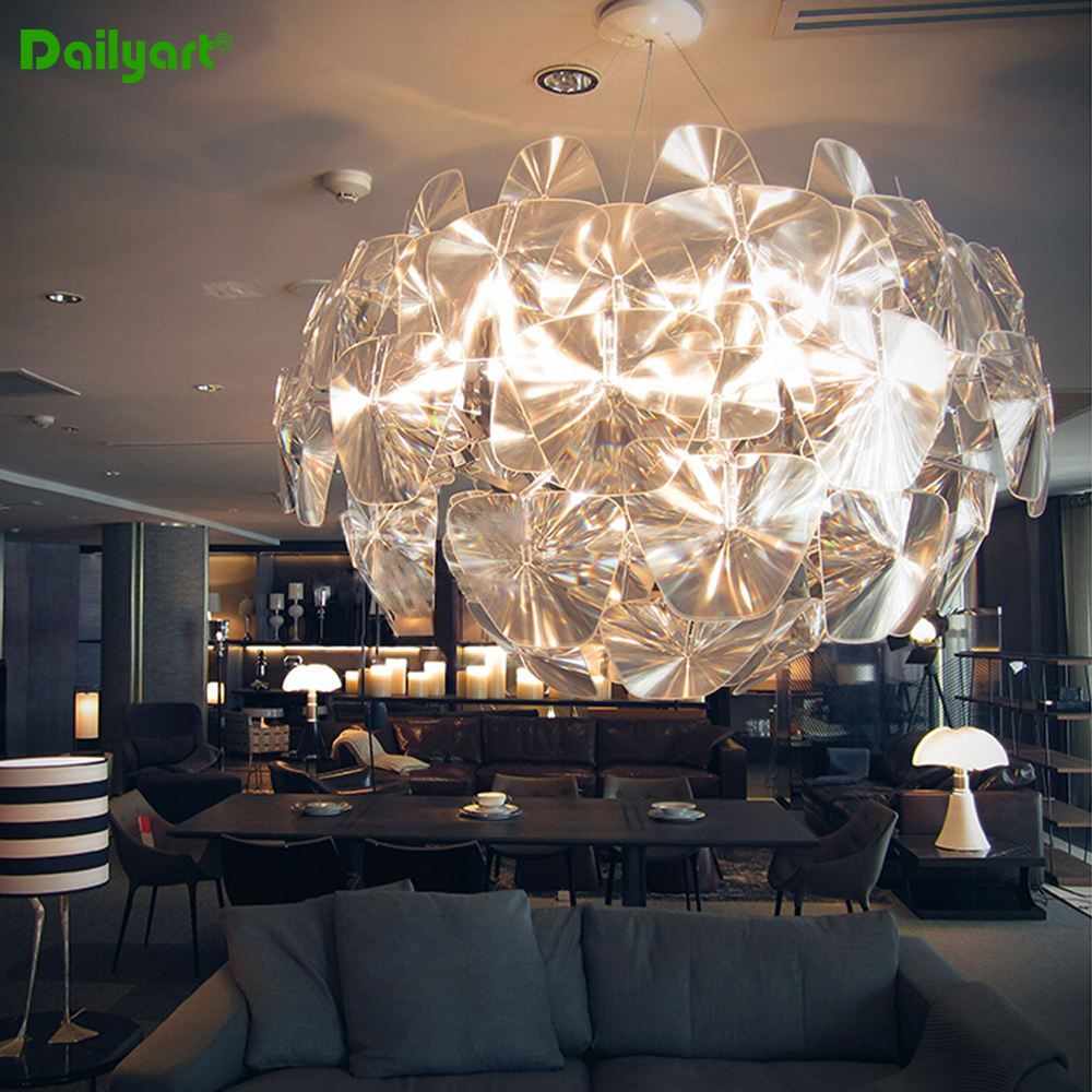 61cm/72cm Acrylic Lampshade Apple Pendant Light Modern Laser Pendant Light Fahion Design Hope Apple Lamp(China (Mainland))