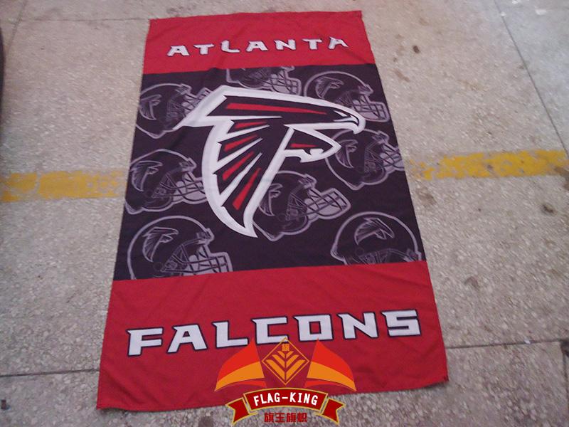 Atlanta Falcons flagking brand football Helmet club flag,Atlanta Falcons polyster banner,90*150 CM(China (Mainland))