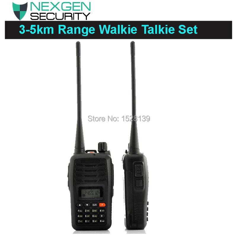 Long Range Walkie Talkie Set 3-5 km Range 2 Charging Docks UHF VOX Function 110v Calling Alarm Function(China (Mainland))
