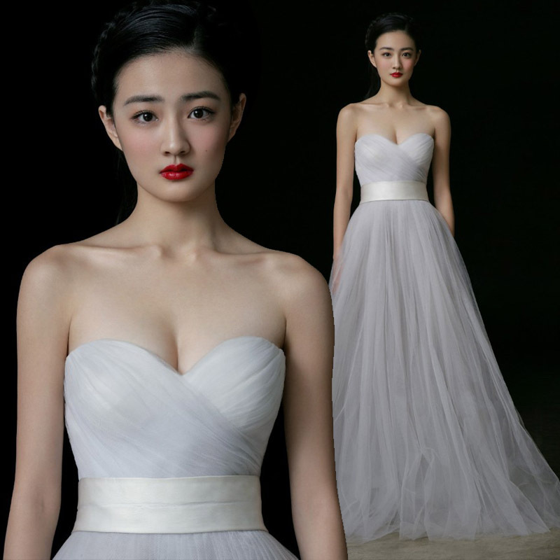 Simple wedding dress sweetheart tulle pleat off the for Cheap wedding dress from china