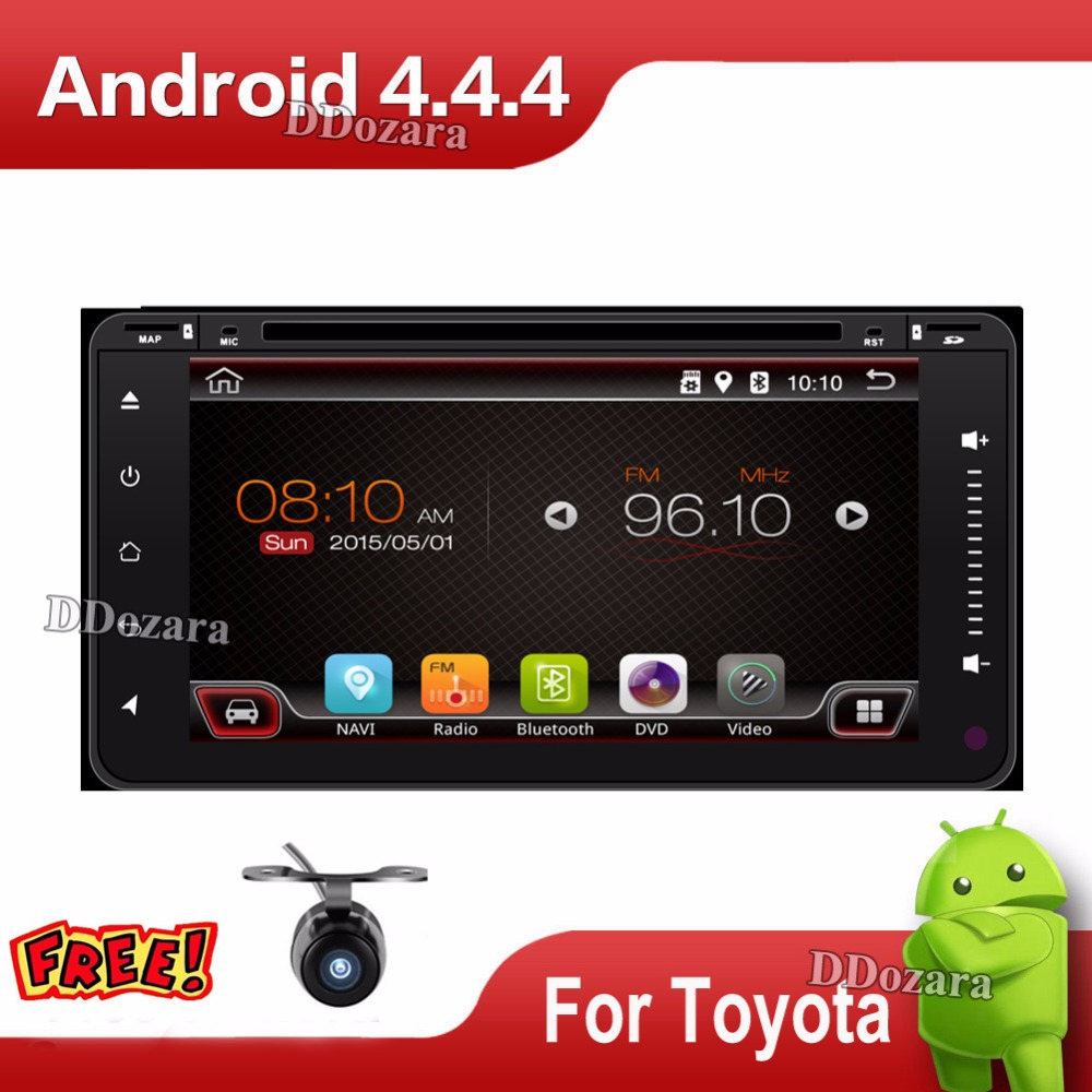 Android 4.4 car dvd player for toyota prius in dash 2 din Quad Core car dvd gps navigation Wifi 3G TV 200*100mm(China (Mainland))