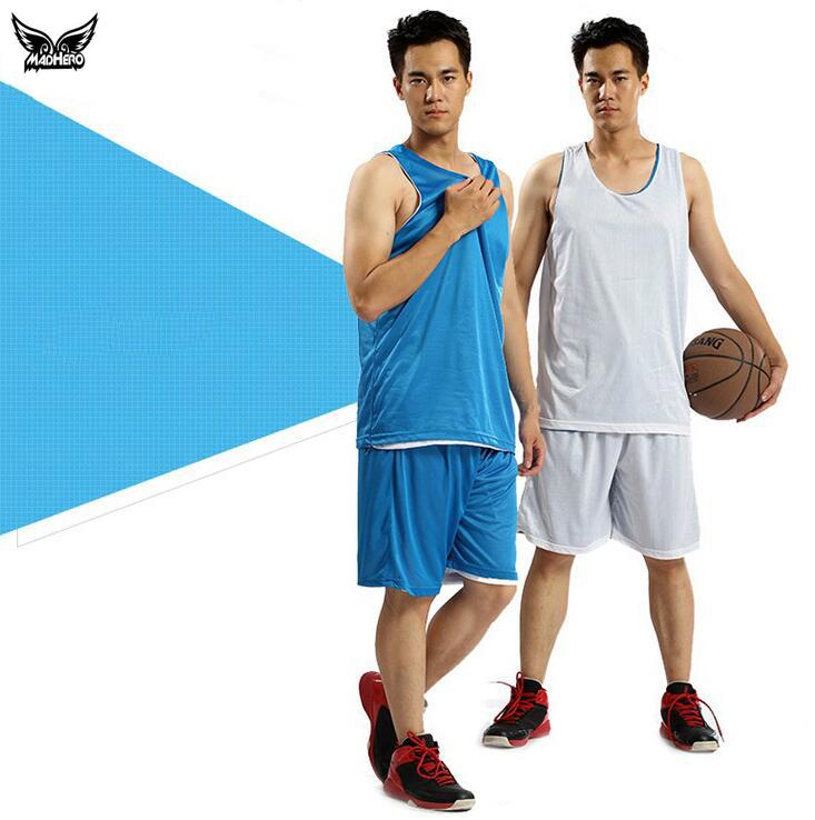 Reversible Basketball Jersey Sets 2016 Sportsman Wear Shirts And Shorts Personalized Custom Basketball Jerseys Plus Size XL-4XL(China (Mainland))