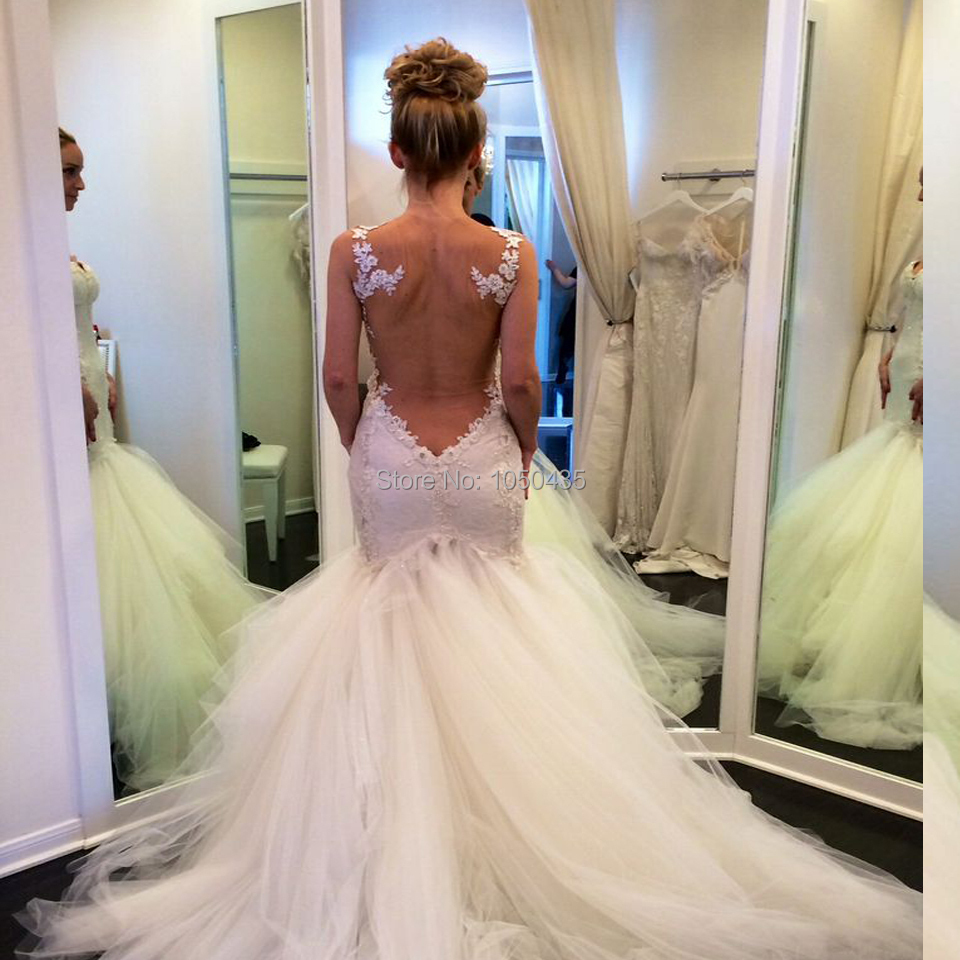 wedding dress low cut back images