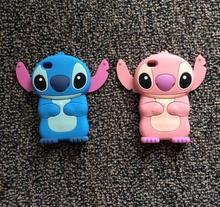 3d cute cartoon stitch case for iPhone 4 4S 5 5s se 6s 6plus CellPhone cover 3D silicon case fundas shell soft Coque Capa Para