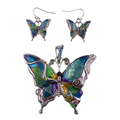 MS1504260 Fashion Jewelry Sets Hight Quality Necklace Sets For Women Jewelry Silver Plated Butterfly Unique Design