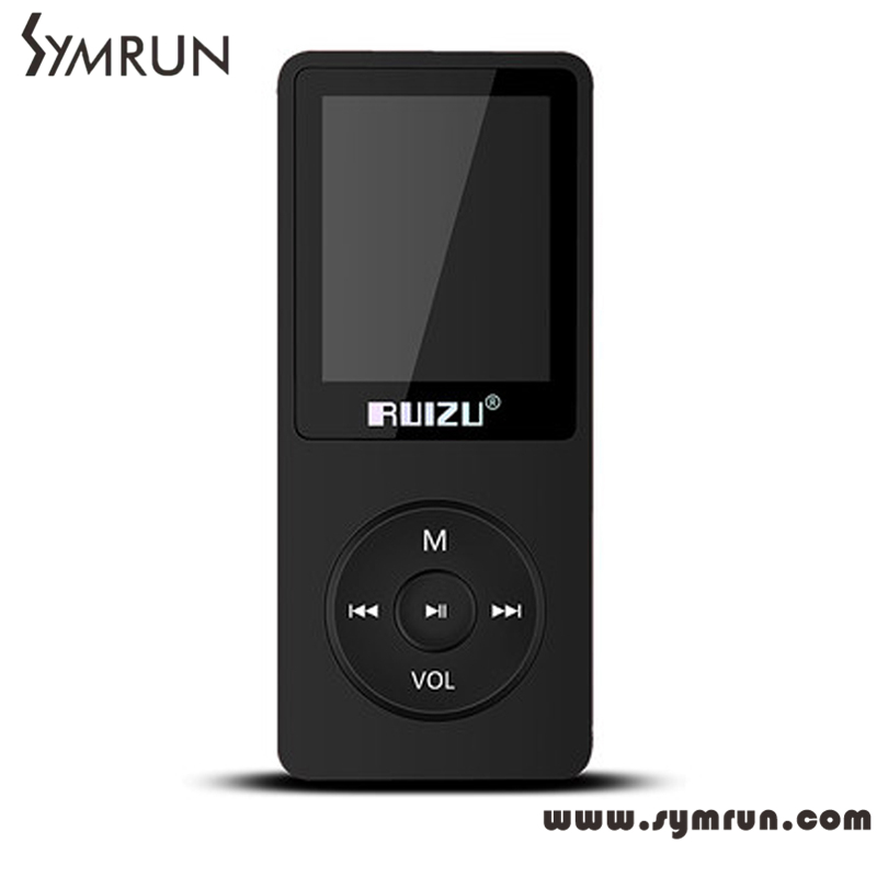 Symrun Cheapest 4GB New Arrive Ultrathin MP3 Player With 1.8 Inch Screen Can Play 80 hours MP3 Ruizu(China (Mainland))
