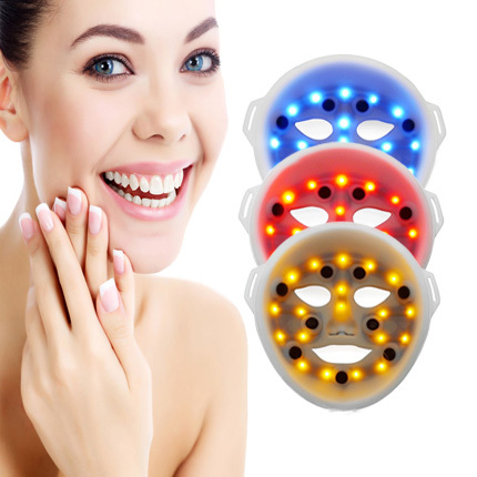 hot sale 3 led light in 1 facial led mask led facial care machine skin rejuvenation skin whitening and acne care free shipping<br><br>Aliexpress