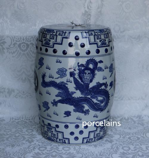 Blanc porcelaine tabouret promotion achetez des blanc for Conception jardin chinois