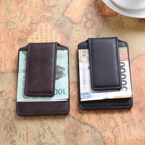 Simple design fashion mens faux leather wallet Black/Brown Money Clip Credit card case bag TOP NEW<br><br>Aliexpress