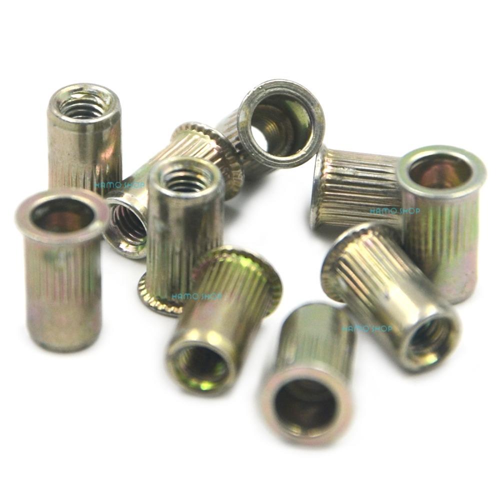 100pcs M3 Normal Head Rivet Nut Threaded Multi Blind Rivnut Insert Nutsert Steel<br><br>Aliexpress