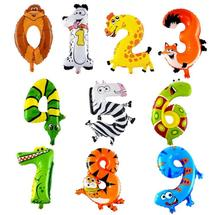 10Pcs 16inch Animal number Foil Inflatable Balloon Wedding Happy Birthday Decoration Air Balloons Party balls Children's Gifts